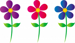 Adorable Clip Art | Three Colorful Daisies - Free Clip Art | easter ...