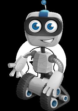 Vector Nano Robot Cartoon Character - ROWAN   GraphicMama   GraphicMama