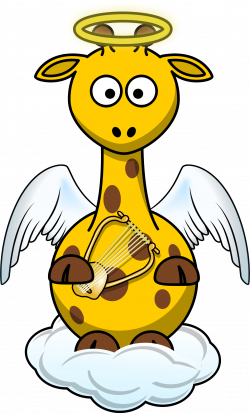 Giraffe Angel by @Bingenberg, A giraffe cartoon dressed up in a fun ...