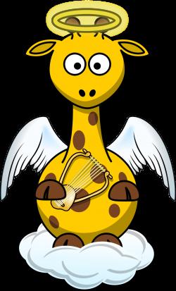 Giraffe Angel by @Bingenberg, A giraffe cartoon dressed up in a fun ...