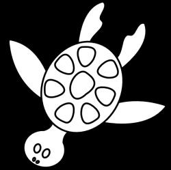 turtle clipart black and white sea turtle clipart black and white ...