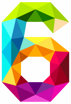 Colourful Triangles Number Six PNG Clipart Image | Gallery ...