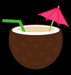 Coconut clipart · Luau flower | Cards: Tropical | Pinterest | Luau ...