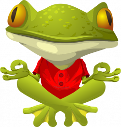 Cute Frog Graphics | Free Frog Practicing Yoga Clip Art | frogs ...
