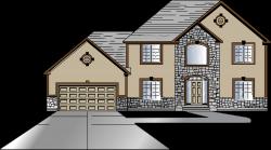 Interior clipart simple home - Pencil and in color interior clipart ...