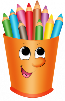 Карандаши,ручки | Pinterest | Colored pencils, Clip art and School
