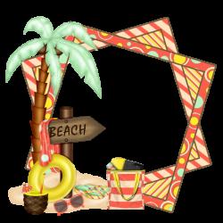Beach cluster frame | Clip Art | Pinterest | Scrapbooking, Clip art ...