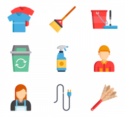 4 clean house icon packs - Vector icon packs - SVG, PSD, PNG, EPS ...
