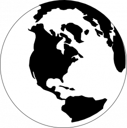globe clip art black and white - Google Search | Siluete | Pinterest ...