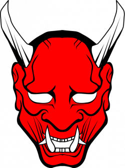 hannya vector | Free cliparts: Red Oni mask clipart | Oni Masks ...