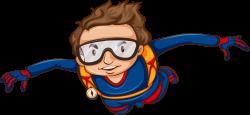 Airplane Parachuting Tandem skydiving Clip art - Fly boy 1095*506 ...