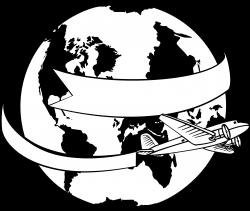 Clipart - around the world banner