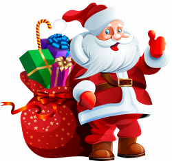 Santa Claus with Big Bag PNG Clipart | XMAS | Pinterest | Big bags ...