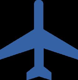 Blue Plane 3 Clip Art at Clker.com - vector clip art online, royalty ...