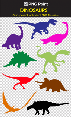 Silhouette images, icons and clip arts of Variety Of Dinosaurs in ...