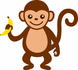 cartoon monkey clip art | Cute Monkey With Banana - Free Clip Art ...