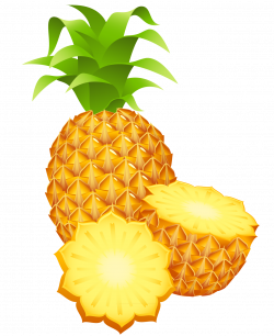 Large Painted Pineapple PNG Clipart | Clip Art Of Fruit & Vegetables ...
