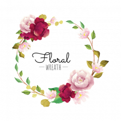 flower, wreath, red, burgundy, blooming, pink, beautiful, frame ...