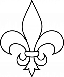frrench free clip art | Black and White Fleur De Lis Outline - Free ...