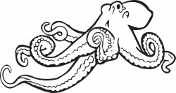 Octopus Clipart Black And White | Clipart Panda - Free Clipart ...