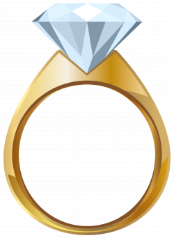 Gold Engagement Ring PNG Transparent Clip Art Image | Gallery ...