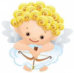 Cartoon Angel with Bow PNG Clipart | Printable Magnets or Scrap Book ...