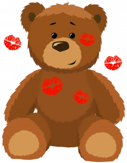 Cute Bear with Kisses PNG Clipart Picture | Clip Art (Teddy Bears 1 ...