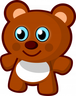 Free Clip art vector design of Little Bear Toy SVG has been ...