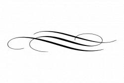 flourish line Divider | Simple Flourishes Flourish #0637 | Craft ...