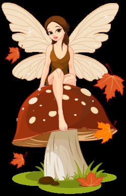 Autumn Fairyand Mushroom PNG Clip-Art Image | fairies | Pinterest ...