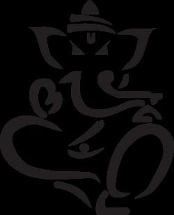 Clip Art: lord ganesha yoga ganesh black white ... - ClipArt Best ...