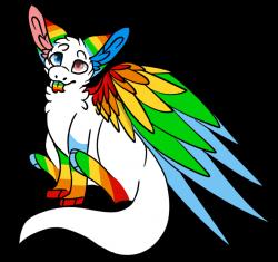 Request:. The Rainbow Angel Dragon by TheMinorityLynx on DeviantArt