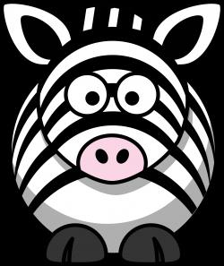 Clipart - Cartoon zebra