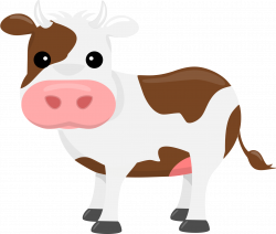 Cow clipart printable - Pencil and in color cow clipart printable