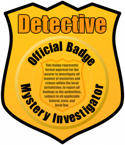 Detective Badge by eady - badge, clip art, clipart, detective ...