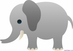 Cute Gray Elephant Clip Art - Sweet Clip Art