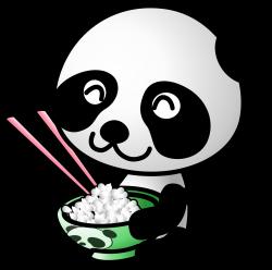Clipart - rice panda