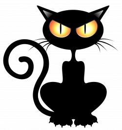 Black_Cat_PNG_Vector_Clipart_Picture.png (4102×4406) | Halloween ...