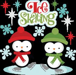 Ice Skating SVG cutting files penguin svg cut files penguin svg ...