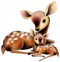 ADORABLE MOTHER AND BABY DEER | CLIP ART - FOREST ANIMALS - CLIPART ...
