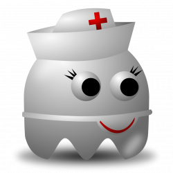 Ghost | Free Stock Photo | Illustration of an arcade styled nurse ...