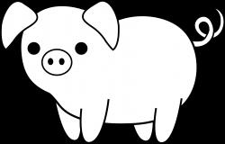 Cute Black and White Pig | Clip Art | Pinterest | Black, Template ...