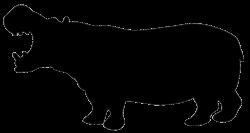 silhouette of hippo | Silhouettes, Stencils & Scherenschnitte ...