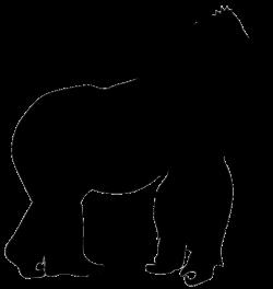 gorilla silhouette … | Design |…