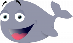 Clipart - Funny whale
