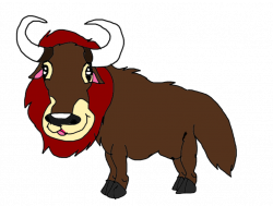Random maned yak by KallyToonsStudios on DeviantArt