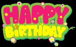 Yellow and Pink Happy Birthday | clip art | Pinterest | Happy ...