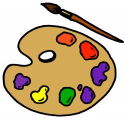 Paint clipart pallete - Pencil and in color paint clipart pallete
