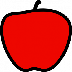 Red Apple - Solid Red Clip Art at Clker.com - vector clip art online ...