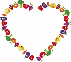 Clipart - Anthropomorphic Fruits And Vegetables Frame 3